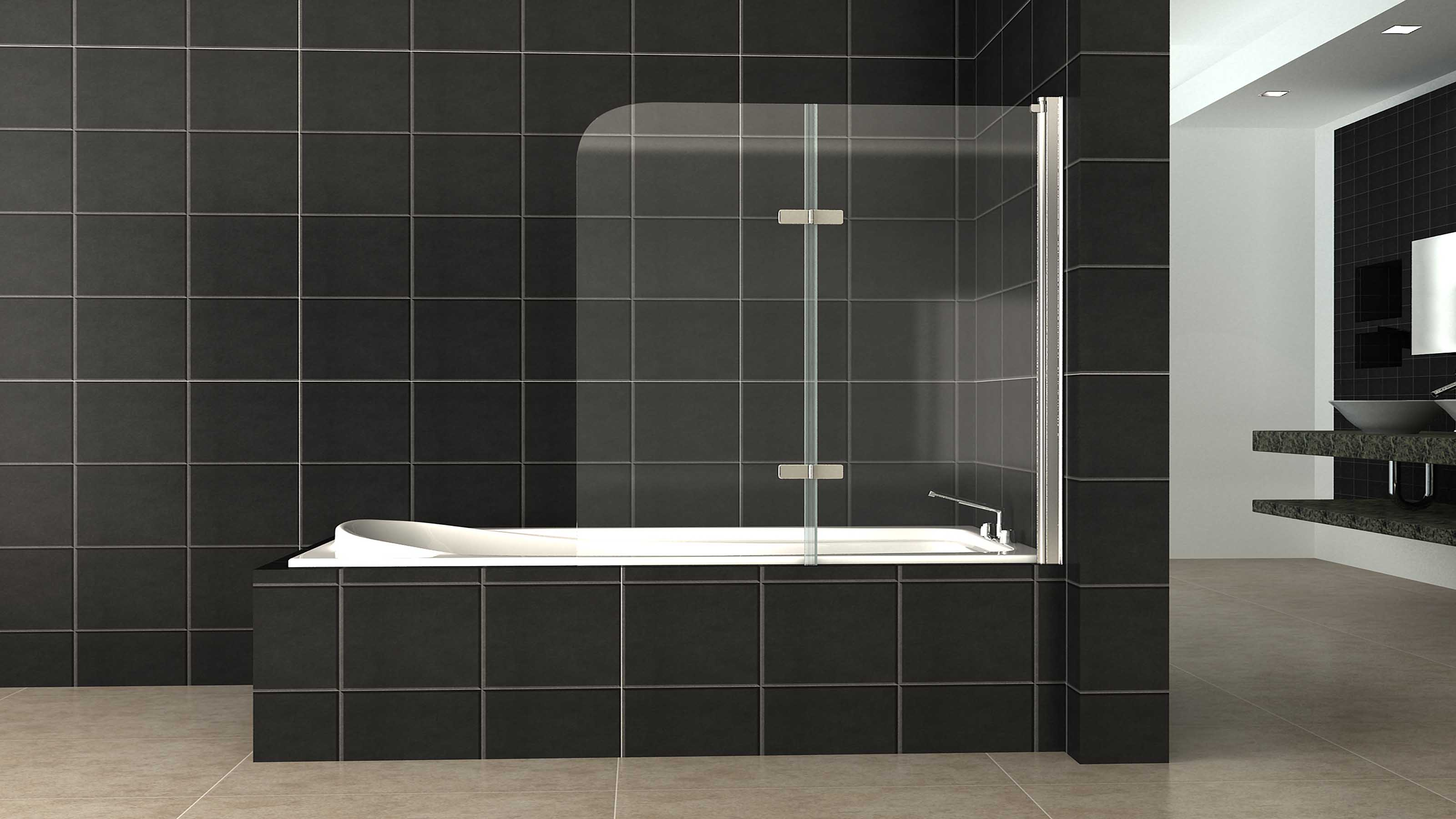 ALLURE™   Frameless Shower Screen Panel   Over Bathtub   Highton   Supplied  U0026 Installed