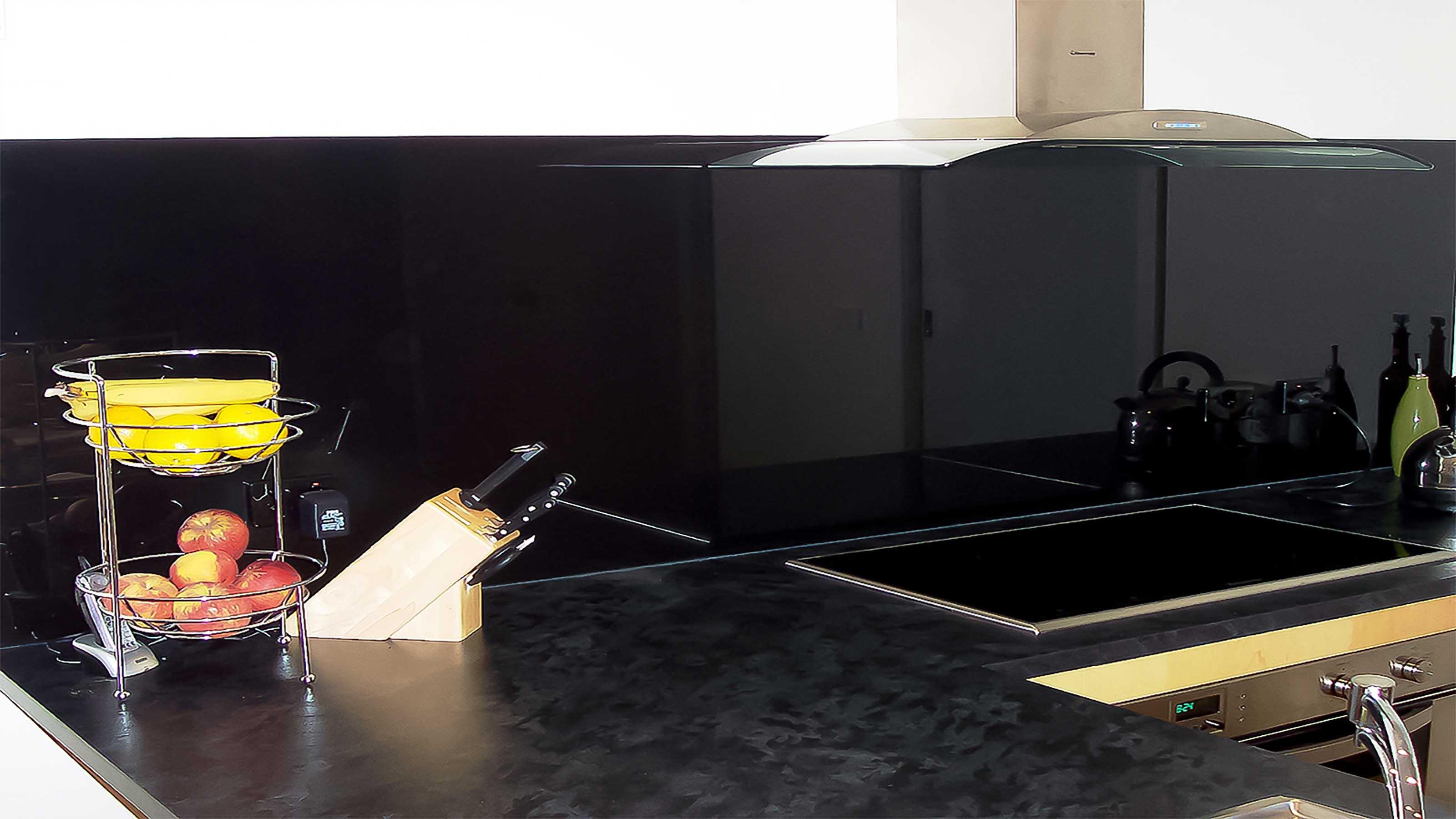 Black Splashback Kitchen Glass Splashbacks Colour Geelong Splashbacks Kolor