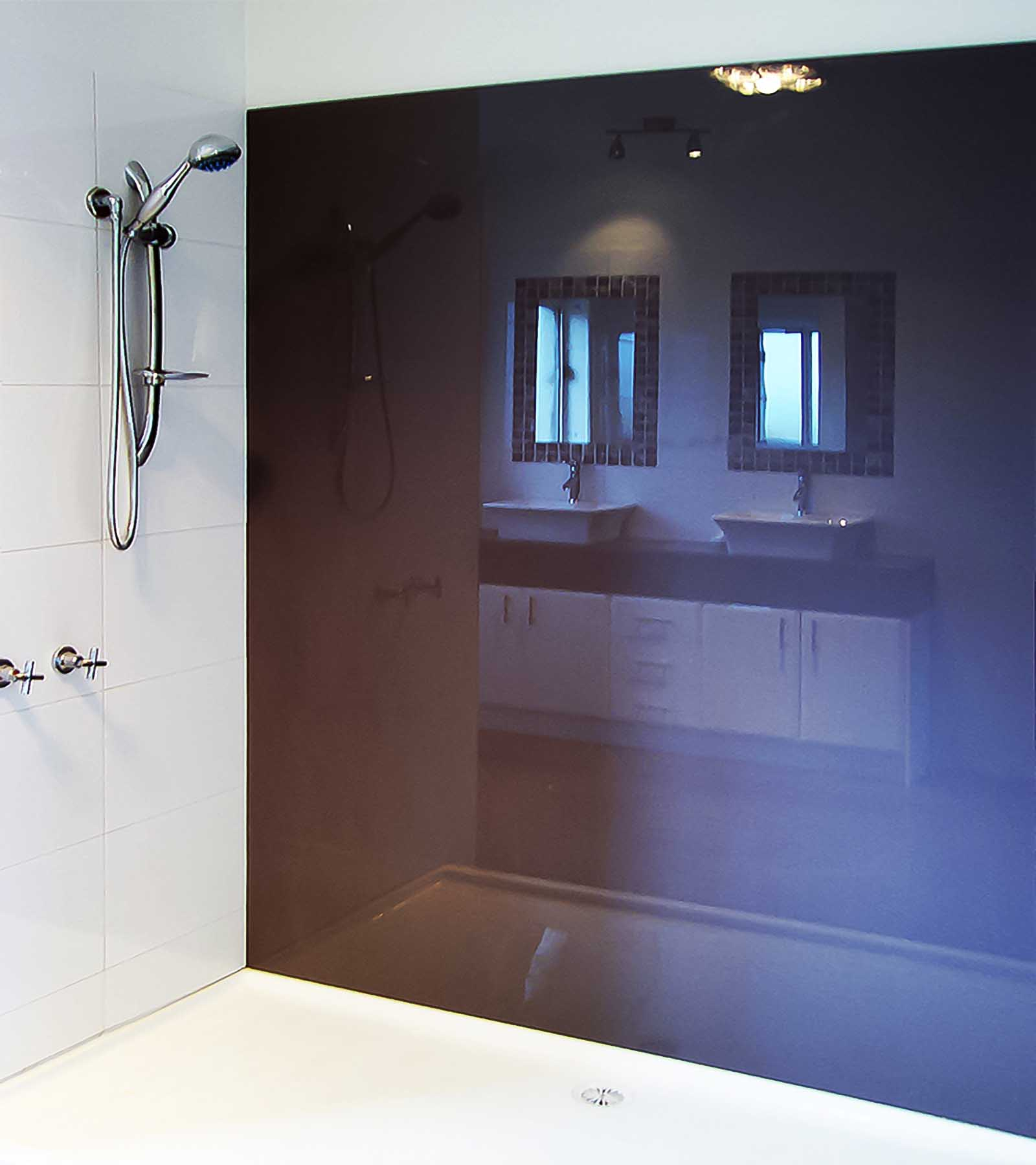 Glass splashbacks for bathroom sinks - Kolor Shower Wall Glass Splashbacks Bathroom Ensuite Teesdale Supplied Installed