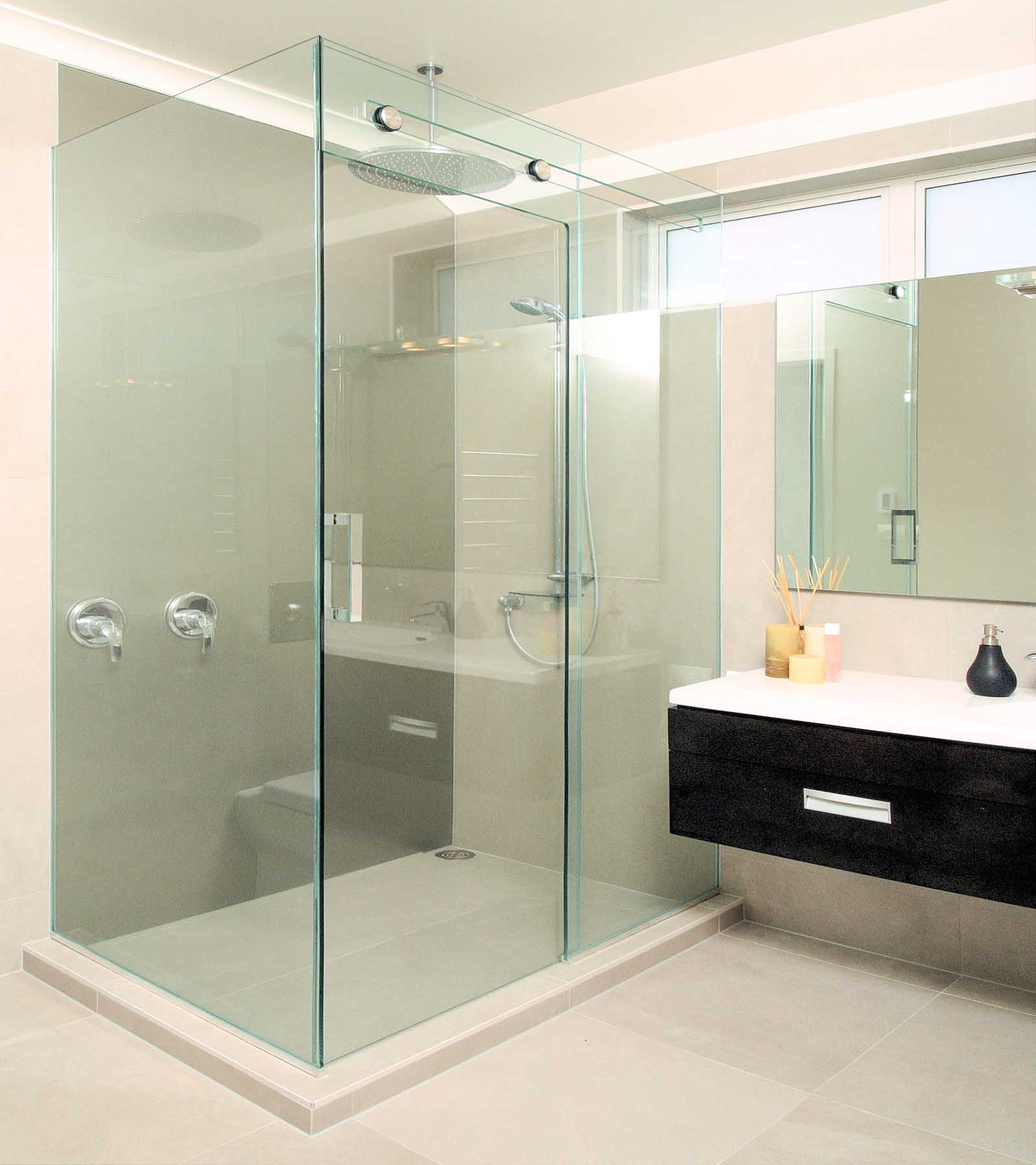 Sliding Frameless Shower Screens Geelong Splashbacks Glide